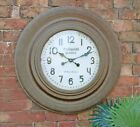 Large Wall Clock Rustic Metal French Antique Style Glass Front Retro Decor 75cm