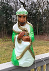 Vintage Empire 28 Three Kings Wise Man Nativity Lighted Blow Mold w Green Robe