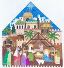 Shelly Tribbey Designs Nativity Handpainted Needlepoint 18