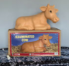 Vintage Lighted Cow Nativity Plastic Blow Mold General Foam with Box