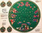Vintage Nativity Quilted Fabric Panel Cut And See Christmas Tree Skirt