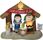 69 LIGHTED PEANUTS NATIVITY SCENE INFLATABLE Christmas OUTDOOR Yard Decor