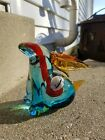 Murano Sommerso Art Glass Rabbit With Vintage Label