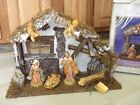 Vtg HEIRLOOM NATIVITY SET 1998 FONTANINI ITALY Creche + 9 Figures w BOX 54562BX