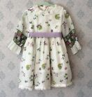 Vintage 1960s Neon Pink Green Purple  White Young Girls Springtime Dress