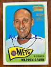 Warren Spahn 2001 Topps Team Legends Auto