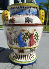Large Vintage Italian Pottery Vase planter Hand Painted 20off