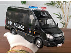1 24 Iveco Commercial Police swat vehicle bus Diecast Model car gift Black White