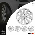 Standard Standart Wheel Cover Guard Hub Caps Durable ABS 15 Silver For Audi