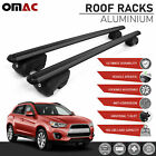 Black Roof Rail Rack Cross Bar Aluminum For Mitsubishi Outlander Sport 2011 2020