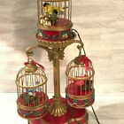 ULTRA RARE Mr Christmas Holiday Song Birds Action Lights Music Box Vintage Flaw
