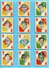 1951 Topps Blue Back Near Set Lot of 51 Different Baseball Cards Vg Ex ap wc