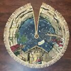 Vintage Nativity Scene Christmas Tree Skirt Kurt Adler Manger Jesus Wise Men