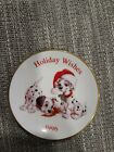 1996 HOLIDAY WISHES 101 DALMATIONS Collector's Plate Hallmark Keepsake Ornament