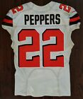 JABRILL PEPPERS Game Worn ROOKIE Photo Matched NFL Browns Giants Jersey FANATICS
