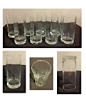 Vintage Anchor Hocking ESSEX Drinking Glass Tumblers 16 oz Clear Set of 8