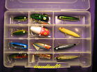 Heddon Rebel Topwater Assortment 12 Lures In Clear Tackle Box New
