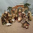 Members Mark Hand Painted 16 Piece Porcelain Nativity Set 2005 In Original Box