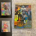 Jerry Rice Nice 3 Card Lot Here Blue Refractor