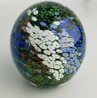 Peter Raos Monet Floral 1994 signed art glass paperweight Millefiori Multi Color