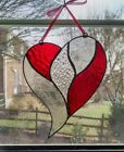 Stained Glass Heart Suncatcher Valentines Day Gift Red Heart Ornament