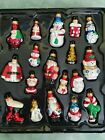 18 VINTAGE FIGURAL GLASS CHRISTMAS ORNAMENTS 2 TO 3 TALL