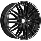 4 Menzari Z04 18x85 5x45 +35mm Gloss Black Wheels Rims 18 Inch