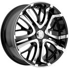 4 Incubus Paranormal 18x75 4x100 4x45 +45mm Black Mach Wheels Rims 18 Inch