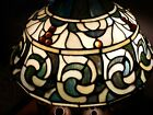 Vintage Art Dale Tiffany Signed Stained Glass Lamp SHADE ONLY 16 inch GORGEOUS!