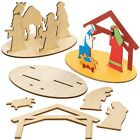 Baker Ross AX575 3D Wooden Nativity Scenes Pack of 3 Perfect for Children