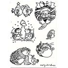Merry Christmas Little Hedgehog Stamps Rubber Clear Stamp Seal Scrapbook Phot