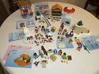 Playmobil Winter Holiday Lot Nativity Snowman Carousel Wise men Curling Lodge ++