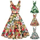 BP Retro Vintage Womens Wide Strap Sweetheart Neck Flared A Line Dress