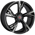 4 Revolution R25 18x8 5x45 +40mm Black Machined Wheels Rims 18 Inch