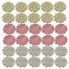 2 Hand Crocheted Lace Appliques Flowers Embellishments for Crafts Flower Gift