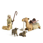 Willow Tree Shepherd and Stable Animals Sculpted Hand Painted Nativity Figures