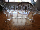 Crystal Etched Rose Wine Tapered Set of 6