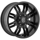 4 18 Inch Panther Offroad 580 18x9 6x135 6x55 12mm Gloss Black Wheels Rims
