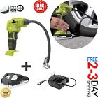 AIR COMPRESSOR TOOL KIT PORTABLE Pump Tire Inflator Cordless Digital Car Compact