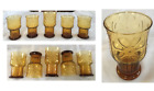 VINTAGE Libbey Amber Country Garden Daisy Flower Drinking Glasses Set of 5