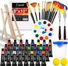 Acrylic Paint Art Kit Set Artist Painting Drawing Supplies Brush Easel 46 Pieces