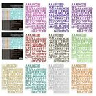 Nicpro Alphabet Letter Stickers 1780 PCS 10 Colors Self Adhesive Large PU Scr