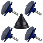 TUPARKA 4 Packs Lawn Mower Blade Sharpener for Drill with 1 Pcs Lawn Mower Bl