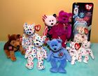 Retired Beanie Baby Lot Millenium Courage Ty 2k Spangle Bears Dog