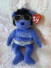 "TY BEANIE BABY ~ ELVIS PRESLEY ""BEANIE HAWAII"" NEW WITH TAG ~ SUNGLASSES& BELT +"