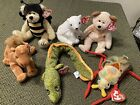 TY Beanie lot of 6: Scurry, Morrie, Huggy, Aurora, Niles And BeeZee