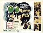 Return of the Fly Title Lobby card  1  FVF 1959 2 stickers on back