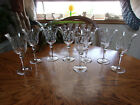 Etched Crystal Wine Water Floral Flared 7 5 8 Set of 8