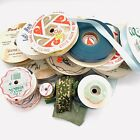 Lot of Various Vintage Ribbons Variety of Styles and Colors Widths and Materials