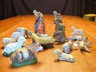 15 Piece Partial Italian  German Nativity Set